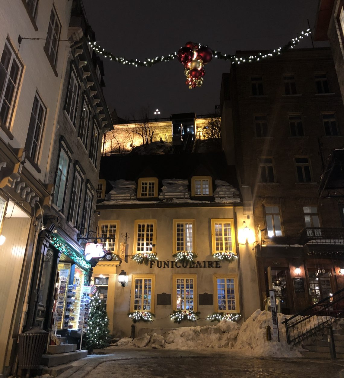 Funiculaire dans le quartier du Petit-Champlain à Québec