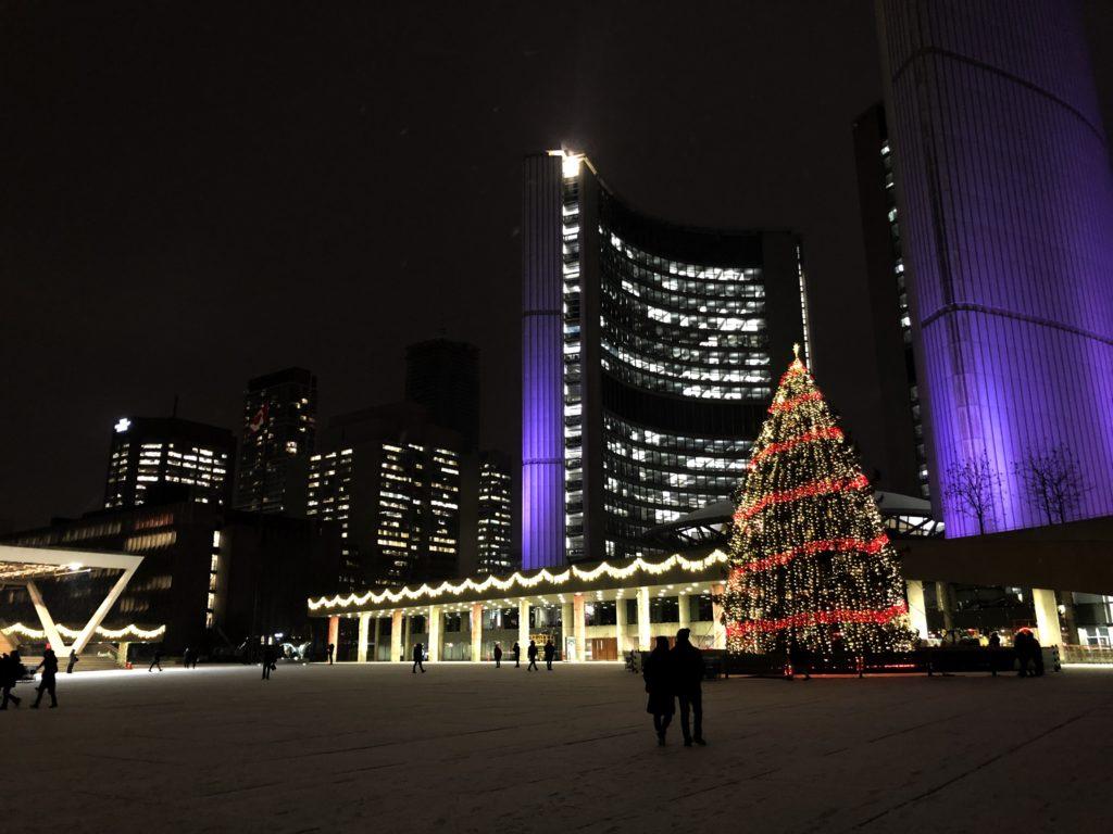 Hôtel de ville - Toronto à Noël