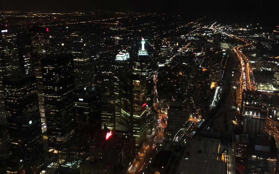 Vue sur la ville de Toronto depuis la CN Tower