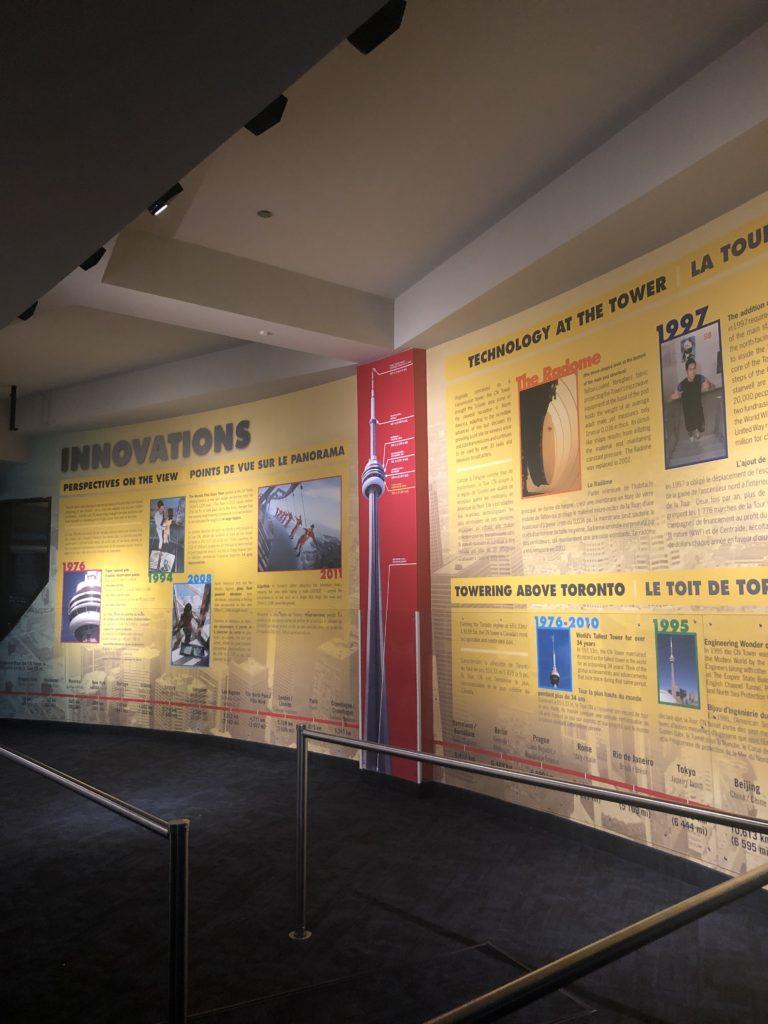 Intérieur CN Tower à Toronto