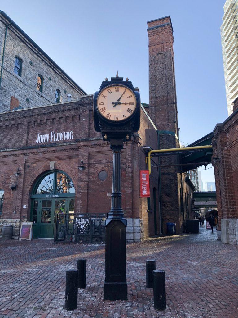 Ruelles pavées de Distillery District à Toronto