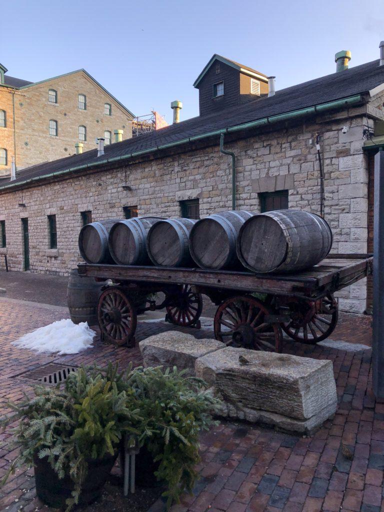 Anciens tonneaux - Distillery District à Toronto
