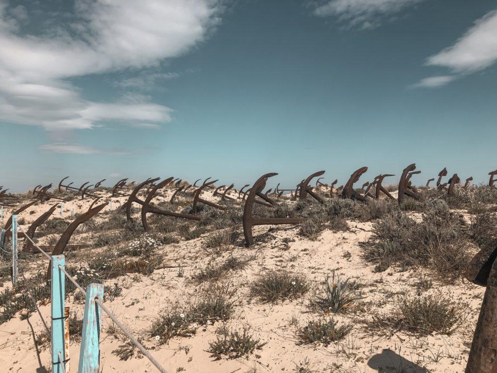 Cimetière d'ancres, Praia do Barril, Algarve