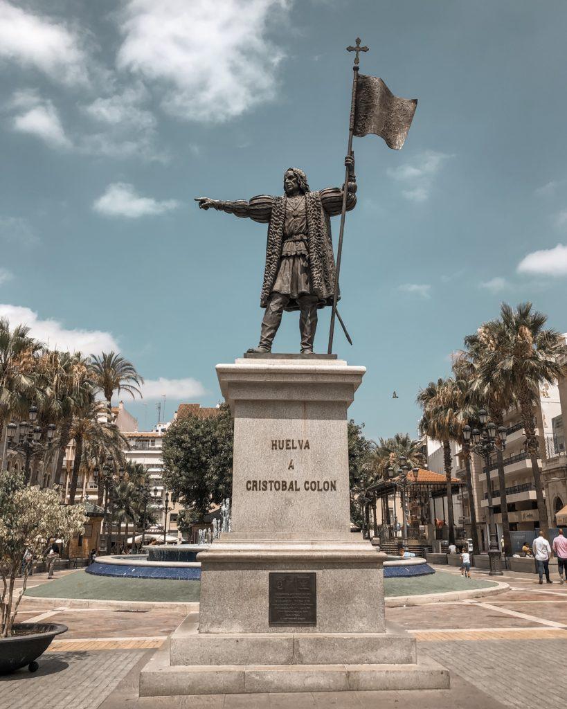 Statue de Christophe Colomb - Plaza de las Monjas - Huelva