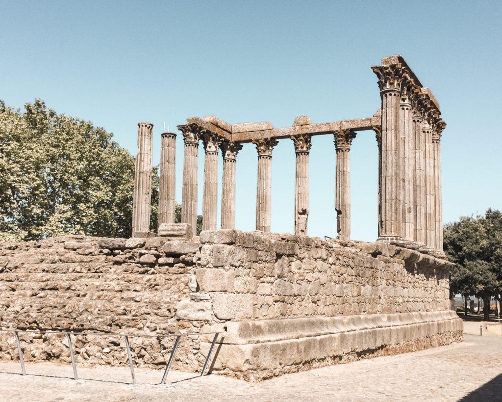 Visiter Evora en Alentejo - Temple de Diane