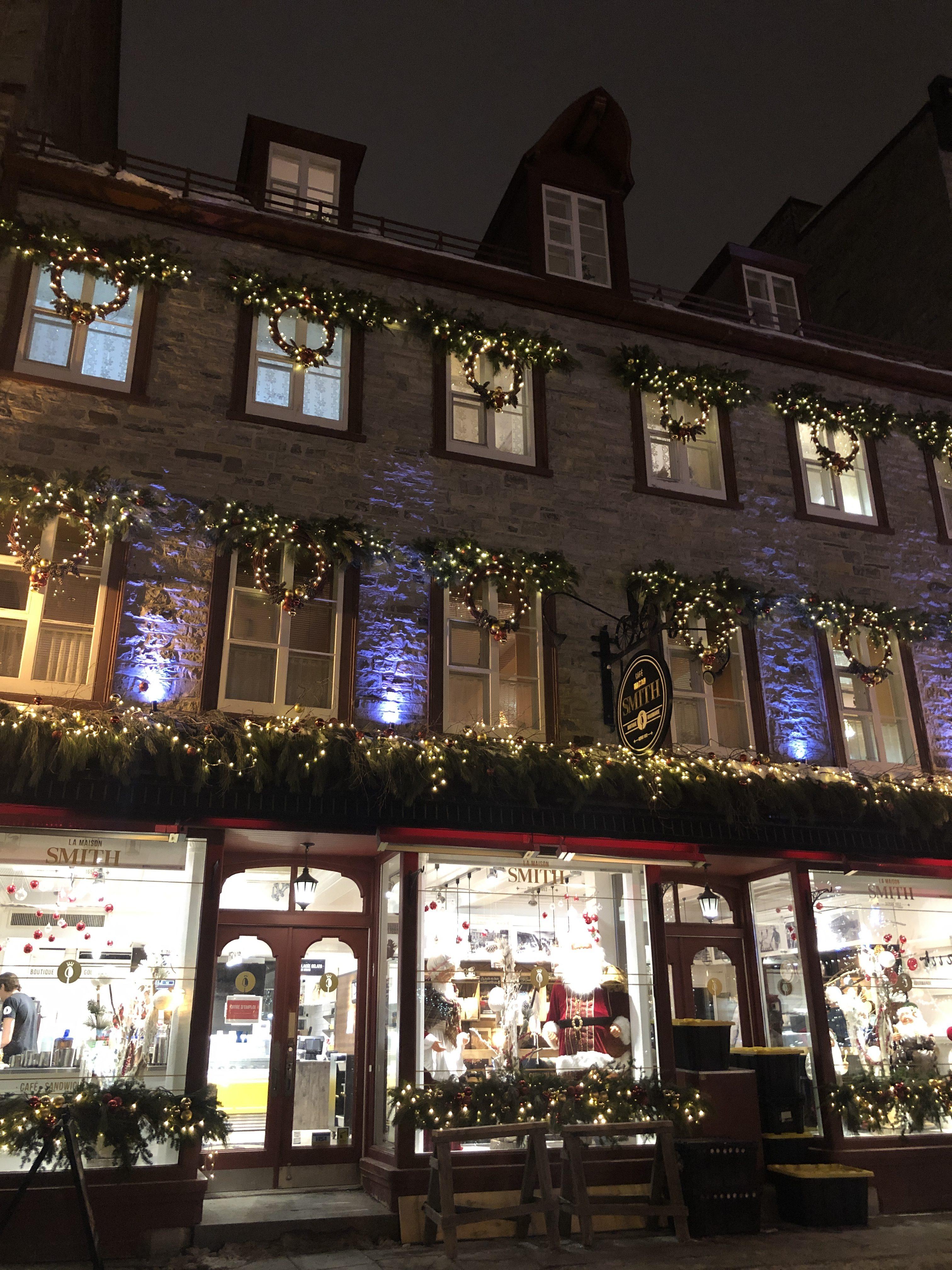 Décorations de Noël dans le Vieux-Québec