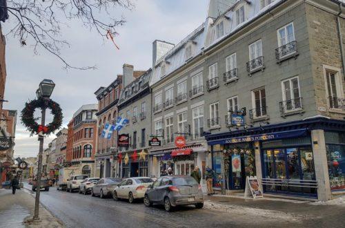 Rue du Vieux Québec à Noël