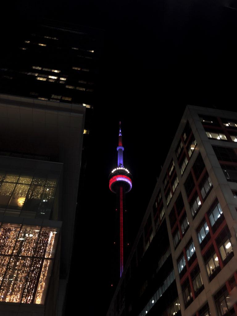 CN Tower dans le centre-ville de Toronto