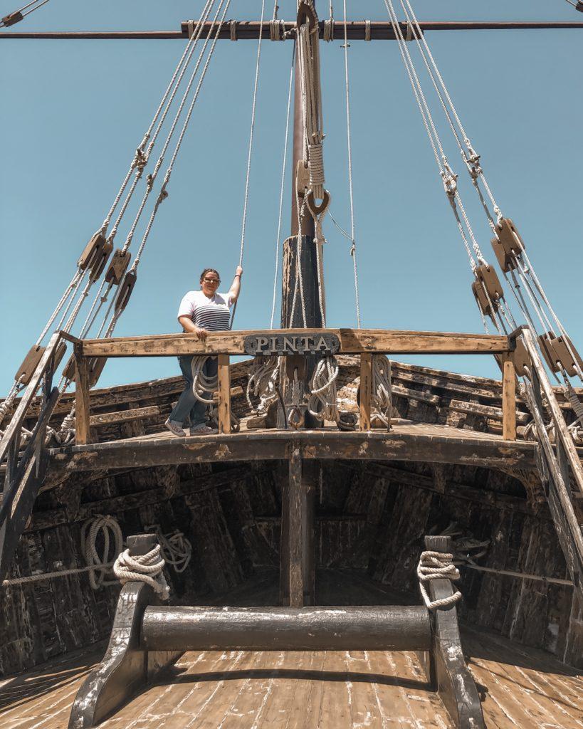 Musée Muelle de las Carabelas et les reproductions des bateaux de Christophe Colomb - Palos de la Frontera, Espagne
